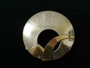 ART DECO STYLE - STERLING & GOLD BROOCH
