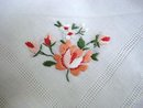 BEAUTIFUL HANKIE HAND EMBROIDERY - ROSE