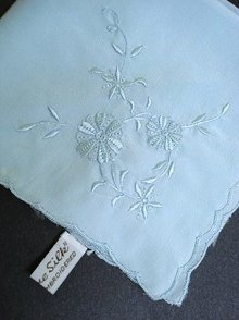 PURE SILK HANKIE - HAND EMBROIDERY