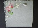 BEAUTIFUL HANKIE-EXQUISITE FLORAL EMBROIDERY