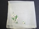 ANGELIC WHITE ORGANDY HANKIE-EMBROIDERY