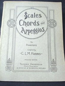 1914 SHEET MUSIC CHORDS for PIANOFORTE