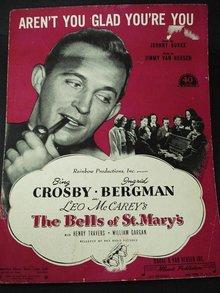 1940's SHEET MUSIC - BING CROSBY
