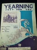 ANTIQUE SHEET MUSIC - YEARNING JUST FOR YOU