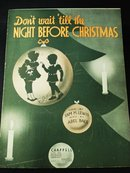 1937 SHEET MUSIC-DO NOT WAIT TILL THE NIGHT