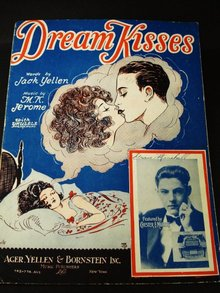 1927 SHEET MUSIC - DREAM KISSES