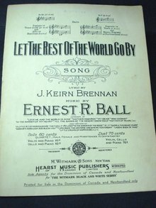 SHEET MUSIC-LET the REST of the WORLD GO BY