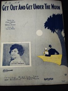1928 SHEET MUSIC - GET UNDER THE MOON