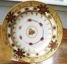 GORGEOUS HAND PAINTED GOLD GILT PLATE