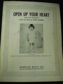 1953 SHEET MUSIC - OPEN UP YOUR HEART