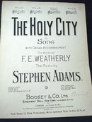 1920 SHEET MUSIC - THE HOLY CITY