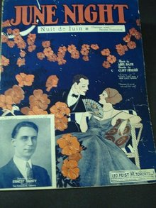 1924  SHEET MUSIC - JUNE NIGHT
