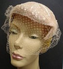 FANCY ANTIQUE LADIES HAT -  WITH  NET