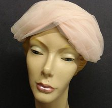 ANTIQUE - FANCY LADIES HAT -  PASTEL PINK