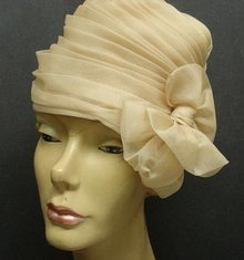 FANCY  ORGANDY LADIES HAT - by GEORGETTE