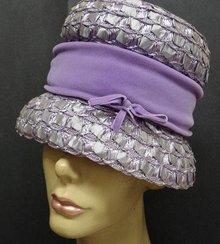 UNIQUE CLOCHE STYLE LADIES HAT - PURPLE