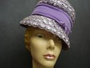 UNIQUE CLOCHE STYLE LADIES HAT - PURPLE