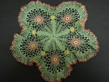 UNIQUE  - HAND MADE - CROCHET LACE DOILY