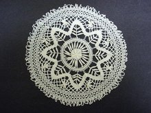 ANTIQUE MUSEUM QUALITY CLUNI LACE DOILY