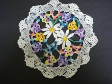 UNIQUE VERY PRETTY FIGURAL LACE DOILY