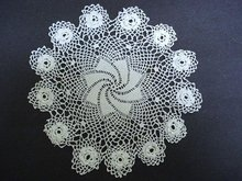 FINEST  LACE IRISH STYLE CROCHET DOILY