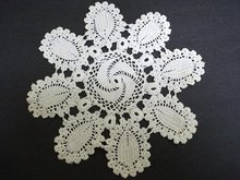 UNIQUE LACE ANTIQUE CROCHET LACE DOILY