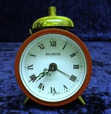 BILTMORE MINIATURE GERMAN ALARM CLOCK - TINY