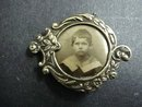 VICTORIAN SILVER BROOCH - MINIATURE PICTURE