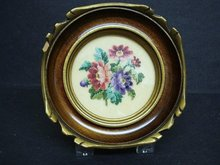 FINEST ANTIQUE PETIT POINT FRAMED PICTURE