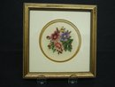FINEST ANTIQUE PETIT POINT FRAMED PICTURE #2