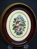 FINEST ANTIQUE PETIT POINT FRAMED PICTURE #3