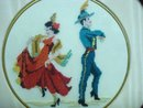 FINEST ANTIQUE PETIT POINT FRAMED PICTURE #4