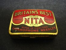 BRITAINS BEST-GRAMOPHONE NEEDLE BOX-NITA