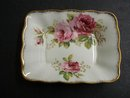 ROYAL ALBERT AMERICAN BEAUTY PICKLE DISH