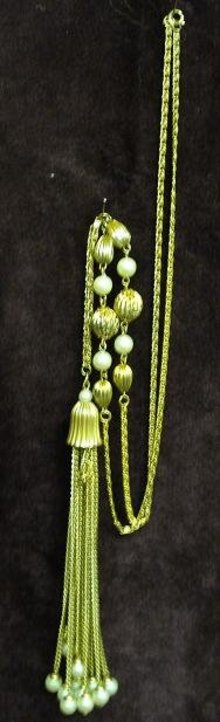VINTAGE FLAPPER STYLE NECKLACE & PENDANT
