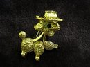 VINTAGE FIGURAL BROOCH  - DOG with HAT
