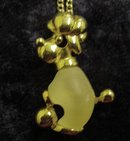DECO STYLE PENDANT GOLD TONE & JELLY BELLY