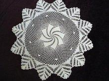 Vintage hand crochet lace Large DOILY