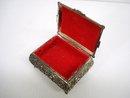 SILVER TONE METAL - JEWELRY BOX  - CHERUB