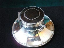 INCREDIBLE VICTORIAN STERLING SILVER INKWELL