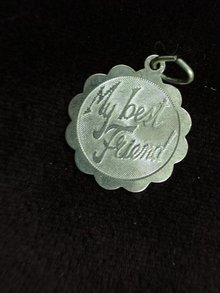 VINTAGE STERLING CHARM - MY BEST FRIEND