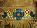 DEER SKIN NATIVE AMERICAN BEADED BAG