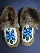NATIVE AMERICAN BEADED CHILD's MOCCASINS
