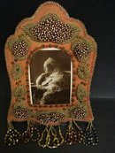 1800's IROQUOIS WHIMSICAL BEADED FRAME