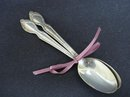 ROGERS- 2 COFFEE SPOONS *SILVERY MIST*