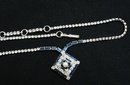 QUALITY JAY-FLEX STERLING / CRYSTAL NECKLACE