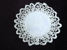 Fantastic Hand Made Uncommon Lace Doily