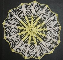 VICTORIAN SPIDER WEBB - CROCHET LACE DOILY