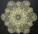 VINTAGE SHADES of GREEN COLOR - LACE DOILY