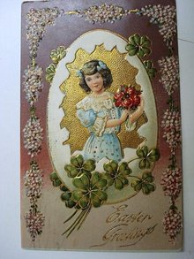 Early 1900's  Easter Greetings POSTCARD